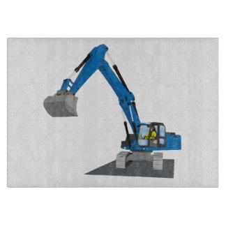 Planche À Découper excavatrice de chaîne bleue