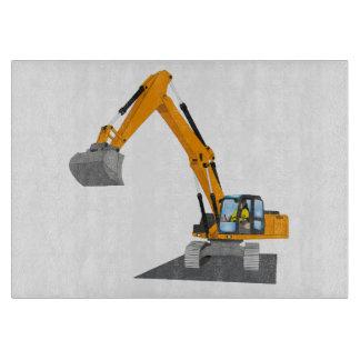 Planche À Découper excavatrice de chaîne orange