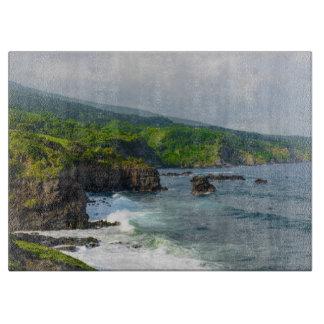 Planche À Découper Falaises tropicales dans Maui Hawaï