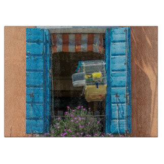 Planche À Découper Fenêtre et verre de cage à oiseaux