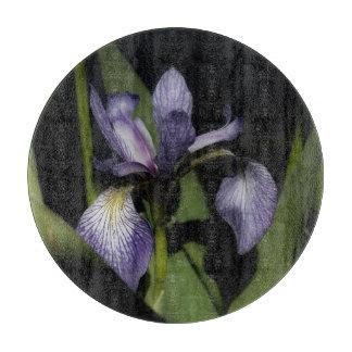 Planche À Découper Fleur d'iris de drapeau bleu