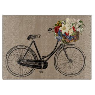 Planche À Découper fleurs vintages de bicyclette de vélo de planche à
