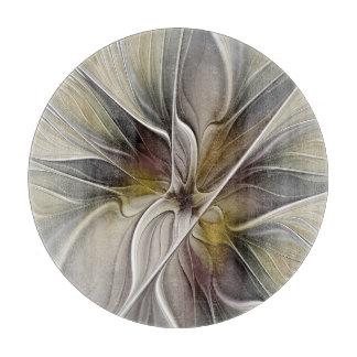 Planche À Découper Fractale florale, fleur d'imaginaire avec des