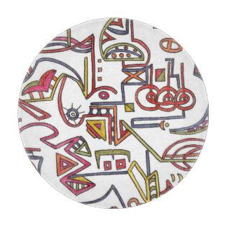 Planche À Découper Géométrique Art-Lunatique moderne