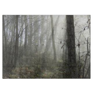 Planche À Découper Hachoir en verre de brume de matin de région