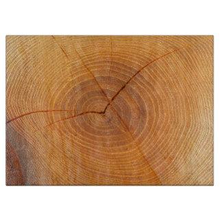 Planche À Découper Hachoir en verre en coupe d'arbre d'acacia
