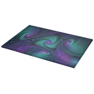 Planche À Découper Le pourpre rencontre la turquoise, art de fractale