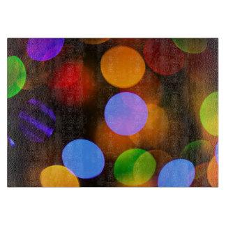 Planche À Découper Lumières de Noël multicolores