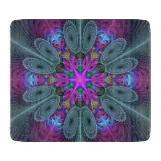 Planche À Découper Mandala de l'art coloré central de fractale