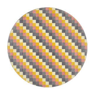 Planche À Découper Motif abstrait de couleur de grille