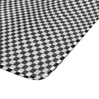 Planche À Découper Motif Checkered noir et blanc