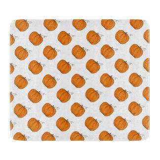 Planche À Découper Motif de citrouilles d'automne
