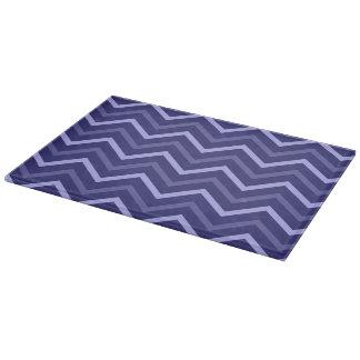 Planche À Découper Motif de zigzag de Chevron bleu-clair et de bleu