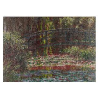 Planche À Découper Nénuphars de Claude Monet et pont japonais