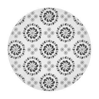 Planche à découper noire et blanche de motif de