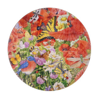 Planche À Découper Oiseaux, papillons et abeilles