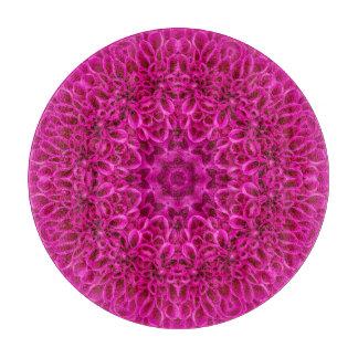 Planche À Découper Panneaux roses de taille du verre de motif de