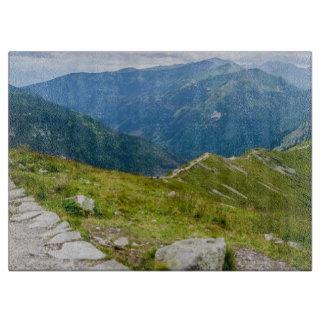 Planche À Découper Photo de paysage de Ridge de montagnes de Tatra