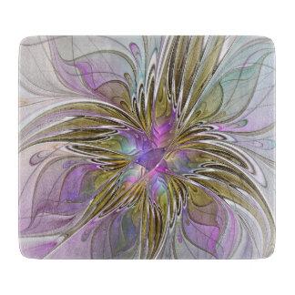 Planche À Découper Résumé floral et art coloré de fractale