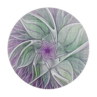 Planche À Découper Rêve de fleur, art abstrait de fractale