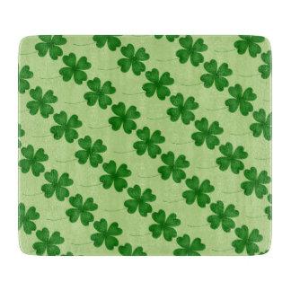 Planche À Découper Shamrocks verts de Jour de la Saint Patrick