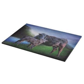 Planche À Découper Vache et veau noirs à Angus