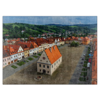 Planche À Découper Vieille place dans Bardejov, Slovaquie
