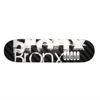 Planche À Roulette Customisée Bronx ; Rayures noires et gris-foncé