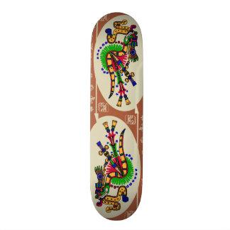 Planche À Roulette Customisée Quetzalcoatl. Aztec Tribal