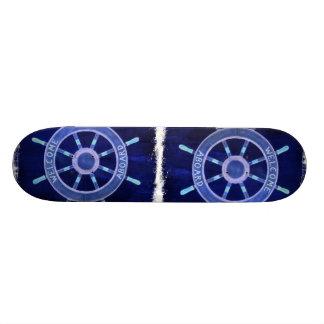 Planche À Roulette Customisée roue nautique de bateau de capitaine de marin de