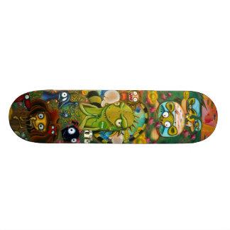 Planche À Roulette Planche à roulettes urbaine colorée d'iguane