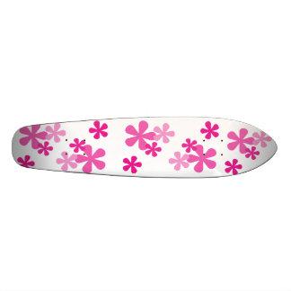Planche À Roulette Rétro planche à roulettes rose de fleurs