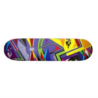 Planche à roulettes abstraite plateau de skateboard