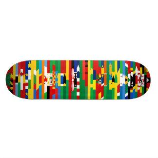 Planche à roulettes africaine de drapeaux