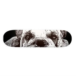 Planche à roulettes anglaise de bouledogue skateboard old school 18,1 cm