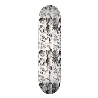 Planche à roulettes animale de motif d'os plateaux de skateboards