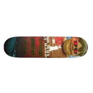 planche à roulettes animale de tube en U de planèt Plateaux De Skateboards Customisés