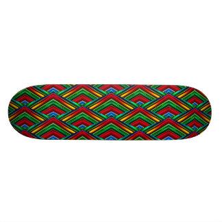 Planche à roulettes colorée de dessin géométrique skateboard