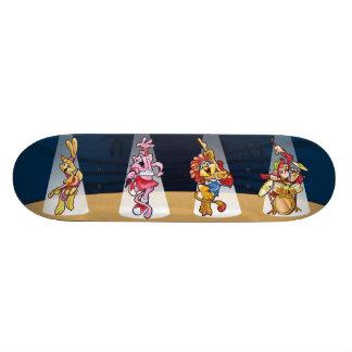 Planche à roulettes de bande d'animaux planches à roulettes customisées