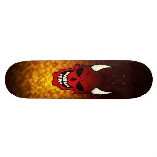 Planche à roulettes de crâne de diable skateboard old school  21,6 cm