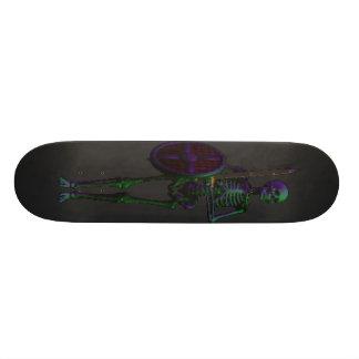 Planche à roulettes de crâne mini skateboard 18,4 cm