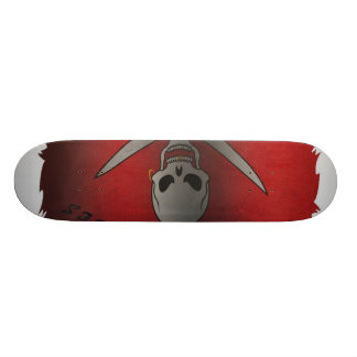 Planche à roulettes de crâne planche à roulette customisée