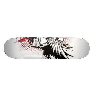 Planche à roulettes de crâne plateau de skateboard