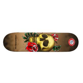 Planche à roulettes de crâne skateboard customisable