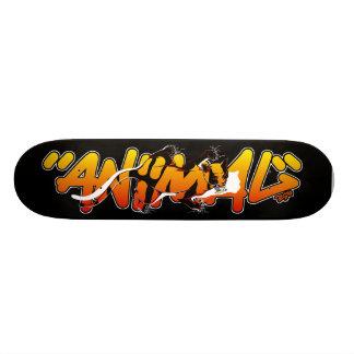 Planche à roulettes de graffiti - animal à plateaux de skateboards customisés