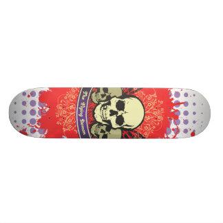 Planche à roulettes de grunge de crânes de démon plateaux de skateboards