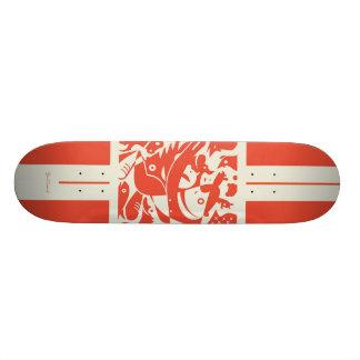 Planche à roulettes de la ferme d'animaux skateboards customisés