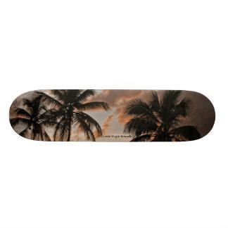 Planche à roulettes de paumes de St Croix Îles Mini Skateboard 18,4 Cm