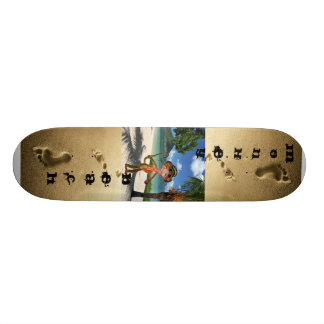 Planche à roulettes de plage de singe plateaux de skate