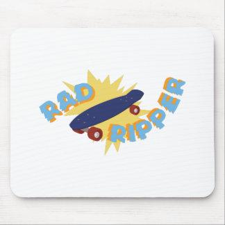 Planche à roulettes de ripper de rad tapis de souris
